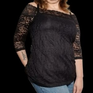 Torrid Lace Off the Shoulder Tunic